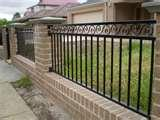 Brick And Steel Fences images