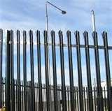 pictures of Steel Palisade Fencing Specification