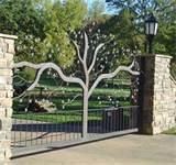 Steel Fence Driveway Pictures
