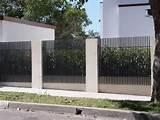 Steel Fence Driveway Photos