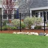 Steel Fence Installation Photos