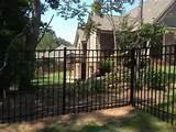 Steel Fence Installation Photos